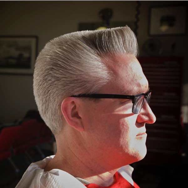 Period correct 1950 s flat top haircut